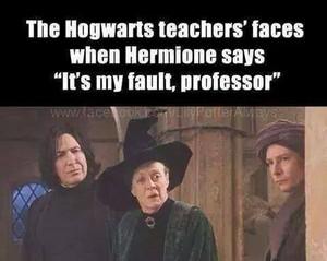 """it's my fault, professor"""