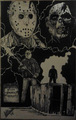 14x22 original ink artwork by Luke Hardiman - jason-voorhees fan art