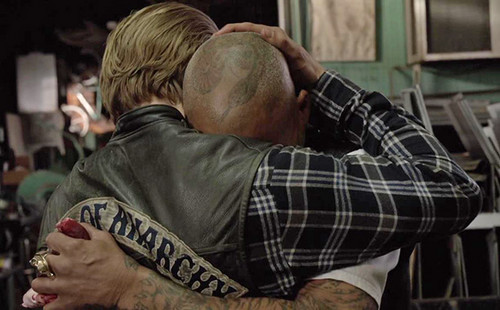 Sons Of Anarchy wallpaper possibly with a triceratops called 7x13 - Papa's Goods - Jax and Happy