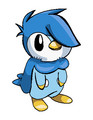 A piplup with hair