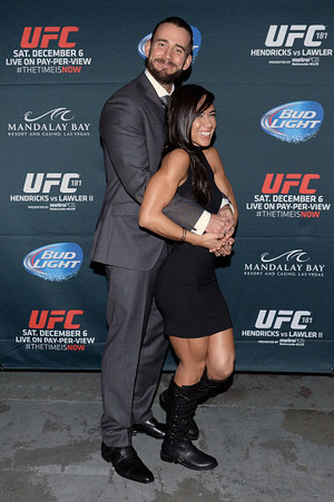 AJ Lee at the UFC Event