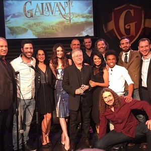 Alan Menken with the cast of Galavant
