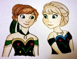 Anna and Elsa - FanArt.