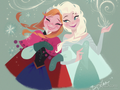 Anna and Elsa kertas dinding