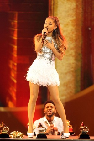 Ariana Grande performing at the Very Grammy বড়দিন in Los Angeles