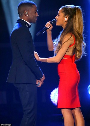 Ariana Grande performing at the Very Grammy Christmas in Los Angeles