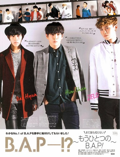 B.A.P wallpaper with a well dressed person, a business suit, and an outerwear entitled B.A.P in Japanese CanCam magazine Jan. 2015 edition