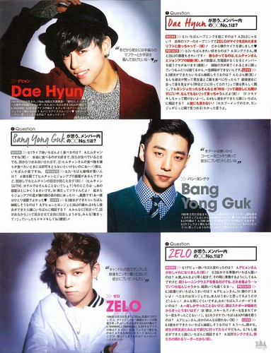 B.A.P Обои probably with a newspaper, Аниме, and a portrait titled B.A.P in Japanese CanCam magazine Jan. 2015 edition