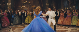 Baby as Charming and Lily James as cinderella