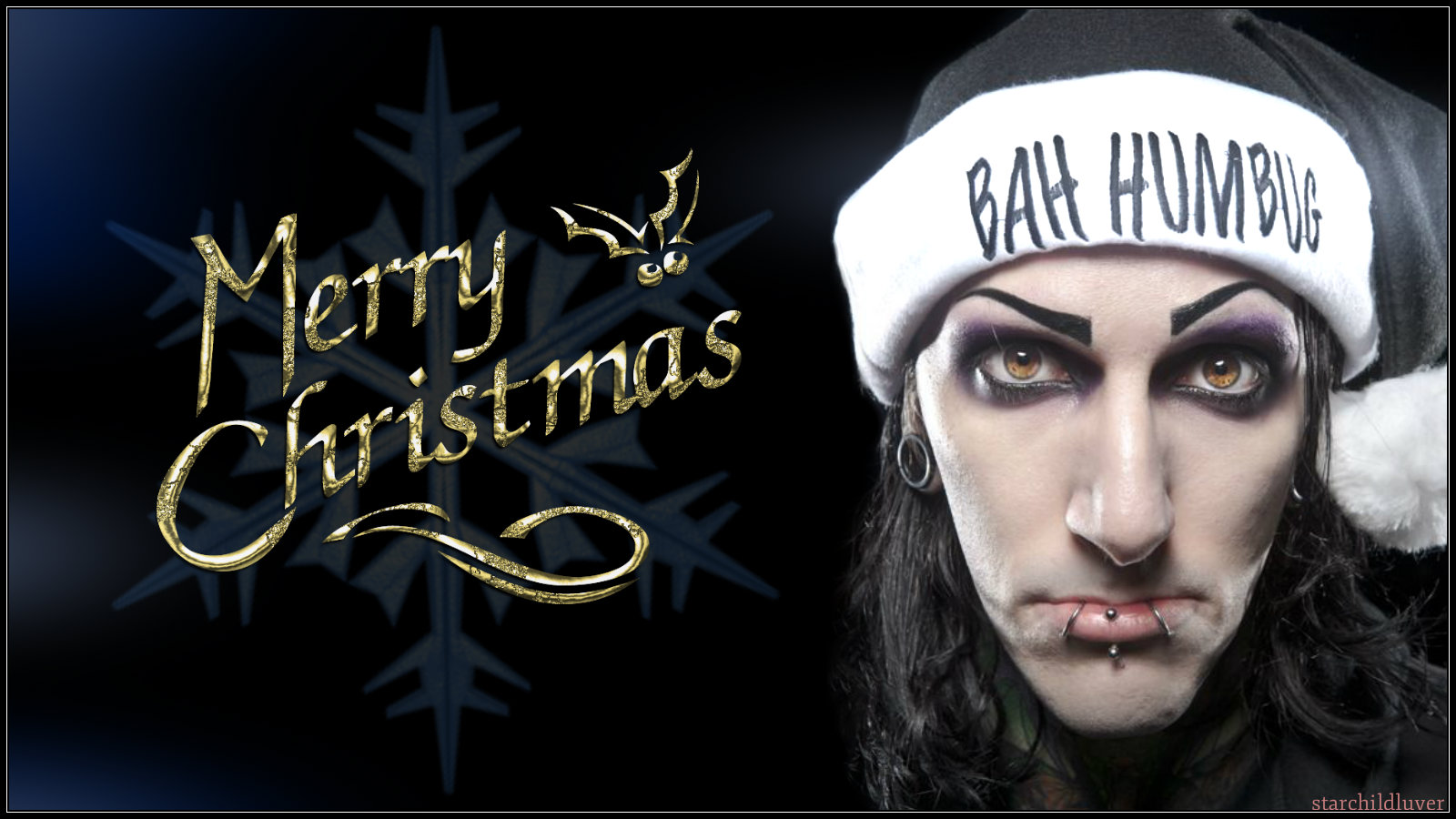 bah humbug and merry christmas motionless in white