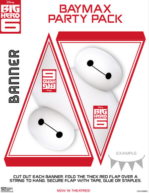 Baymax Banner Flags