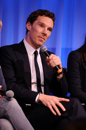 Benedict Cumberbatch speaks at the official Academy members screening of The Imitation Game