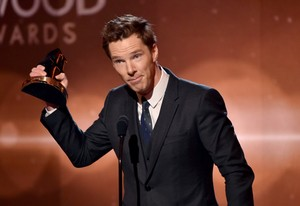Benedict at the Hollywood Film Awards