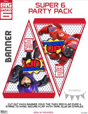 Big Hero 6 Banner Flags