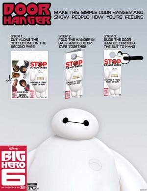 Big Hero 6 Door Hanger How To