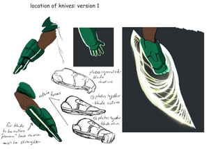 Big Hero 6 - Early Wasabi's Gloves Concept Art