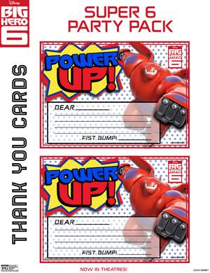 Big Hero 6 Thank tu Cards