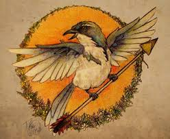 Bird carrying an arrow