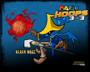 Black Mage Mario Hoops 3-on-3 Background