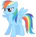 Blue Pegasus - rainbow-dash icon