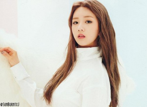 Korea Girls Group A Pink wallpaper containing a portrait called Bomi - pink luv