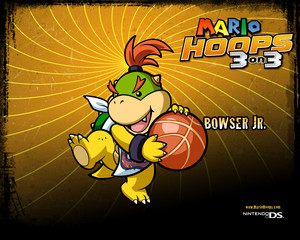Bowser Jr. Mario Hoops 3-on-3 Background