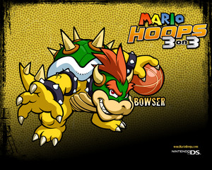 Bowser Mario Hoops 3-on-3 Background