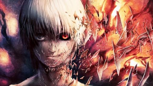 Tokyo Ghoul karatasi la kupamba ukuta entitled Broken Kaneki