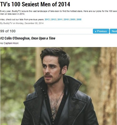 Colin O'Donoghue Hintergrund titled BuddyTV's 100 sexiest men of 2014