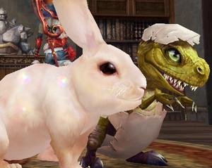 Bunny and Dinosaur BFFs