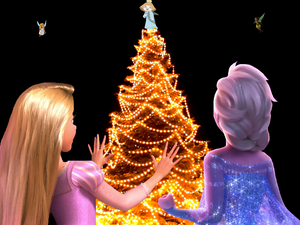 A Raiponce La Reine des Neiges Fairy Christmas