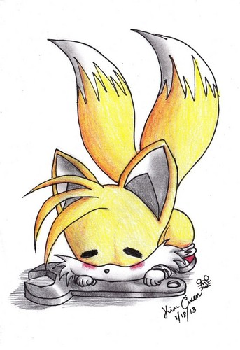 "Miles ""Tails"" Prower wallpaper entitled CUTE CHIBI TAILS!!!!WHO LIKE TAILS?! I didn't draw this but I wanted to share it with u guys!"