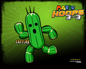Cacture Mario Hoops 3-on-3 Background
