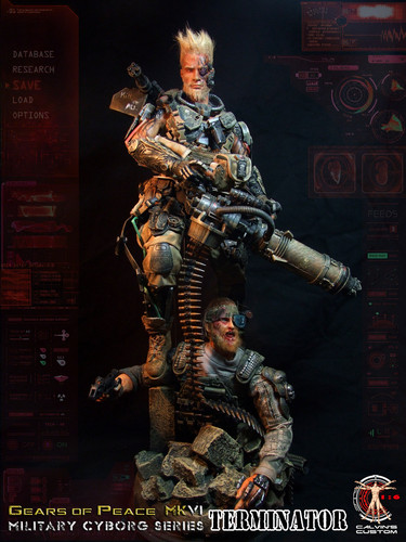 Terminator achtergrond containing a rifleman, a green beret, and a navy zeehond, seal entitled Calvin's Custom One Sixth 1:6 Scale Custom Terminator