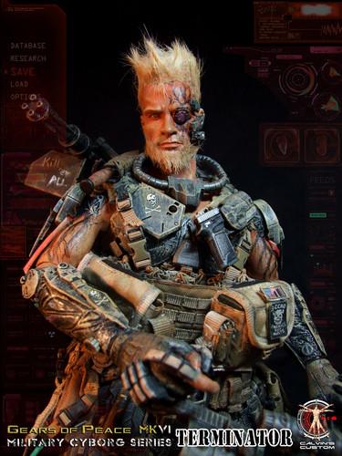 Terminator achtergrond containing a green beret, baret titled Calvin's Custom One Sixth 1:6 Scale Custom Terminator