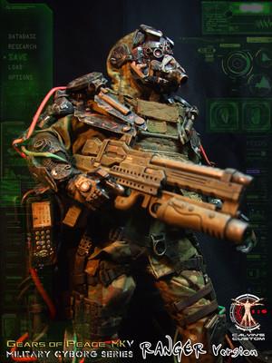 Calvin's Custom one sixth scale original design Gears of Peace MkV Military Cyborg Series