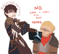 Cassandra, Varric and Fifty Shades of Grey