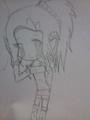 Chibi girl - anime-drawing photo