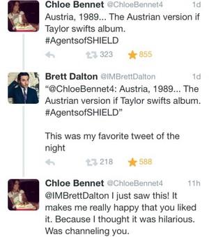 Chloe and Brett Tweeting