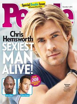 Chris Hemsworth named 2014 People Magazine Sexiest Man Alive