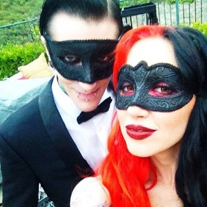 Chris Motionless and Ashley Costello