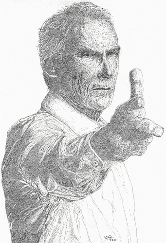 """Clint Eastwood wolpeyper called Clint Eastwood """" Man without a gun"""""""