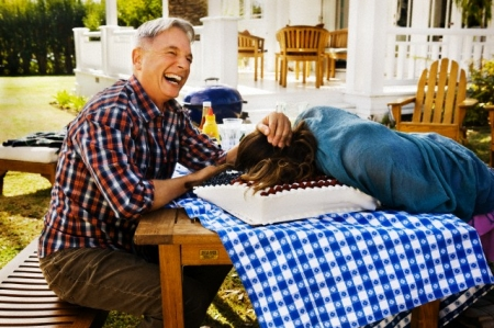 Cote de Pablo and Mark Harmon