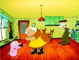 Memorable TV wallpaper possibly with a living room, a drawing room, and a parlor called Courage The Cowardly Dog
