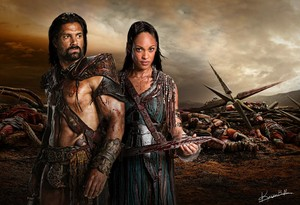 Crixus and Naevia achtergrond