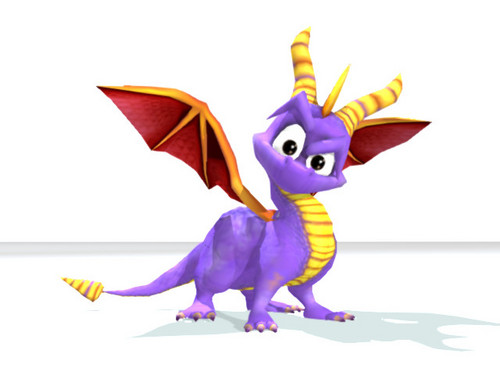 Spyro The Dragon achtergrond entitled Curious Spyro
