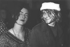 Tobi Vai of Bikini KIll and Kurt Cobain of 涅槃乐队