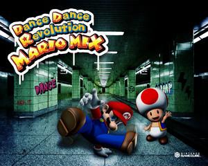 Dance Dance Revolution Mario Mix Background