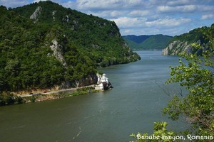 Danube river canyon Romania