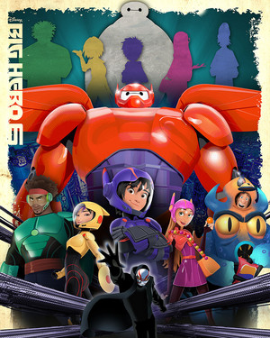 "disney Fine Art - Big Hero 6 ""Geniuses"" oleh Joe Dunn"